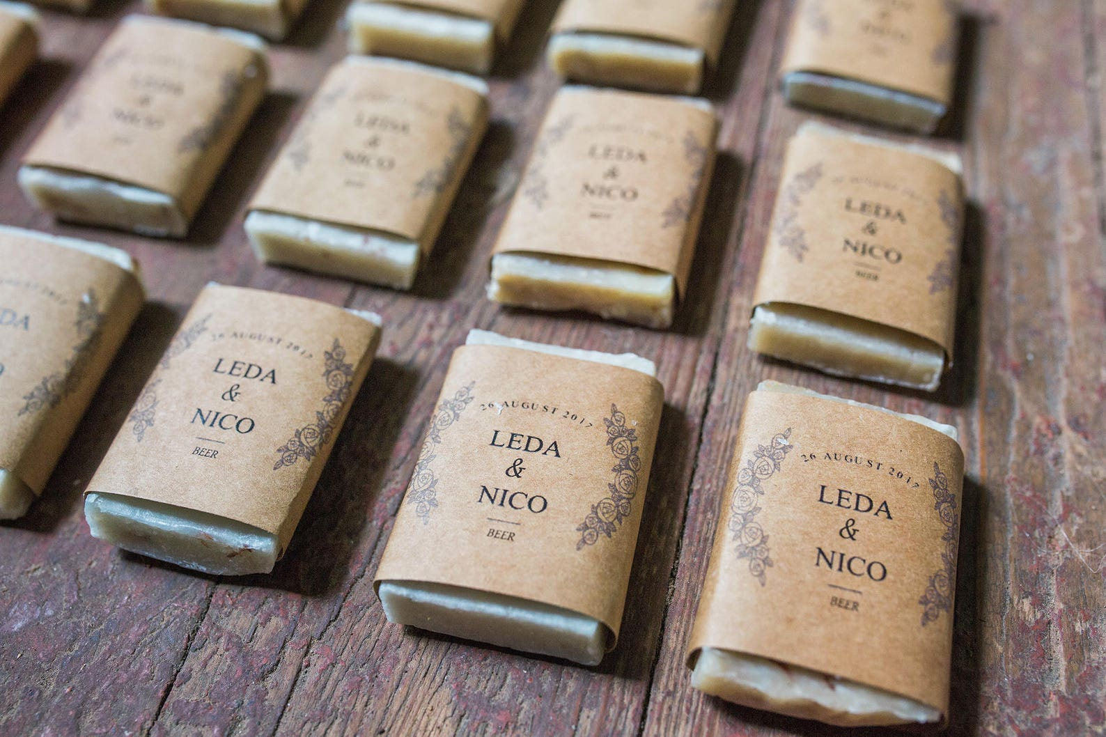 Mini wedding soap favours