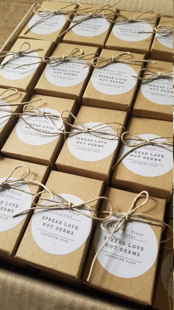 ADD ON-  Wrap my soap favors in boxes, with customized stickers and tied with hemp