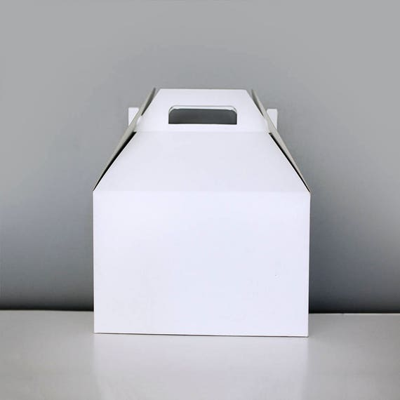 9 x 9 x 6 White Gable Gift Box Set of 6  |  Wedding Gift Box, White Wedding, Bridal Shower Gift, Bridesmaid Gift, Lunch Party Box