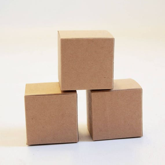 Kraft Natural Gift Box 3x3x3 inches -  Lot of 300