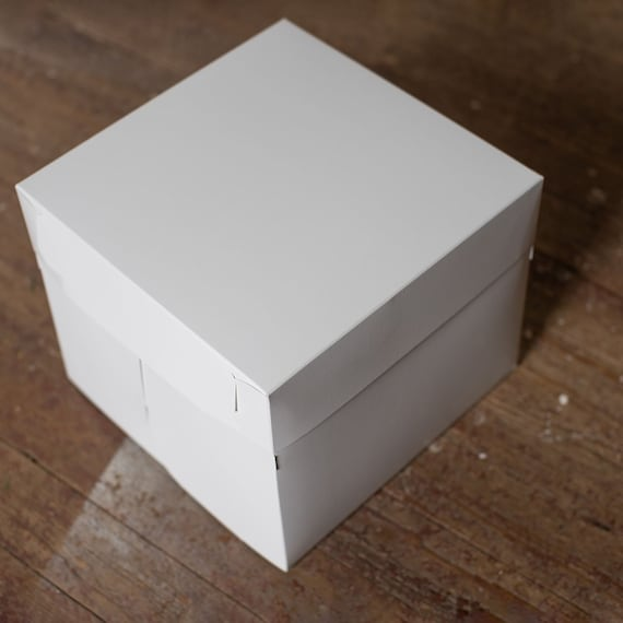 12 x 12 x 10 inch White Bakery Box ( 2pc lid and base) -Choose your quantity | Cake Box | Bridesmaid Gift box | Birthday Cake Box - set of 5