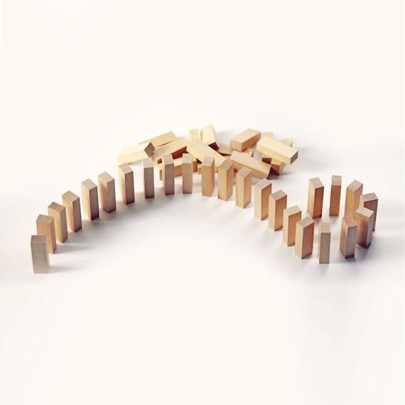 Lot de 6-en bois blocs des cotillons faveurs de mariage cotillons des - en sac de faveur de papier Kraft personnalisé - - faveurs d'anniversaire - Kids Table activités ef57b5