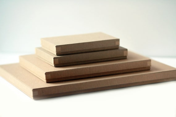Recycled Kraft Photography Boxes- for 5x7 prints  Set of 100