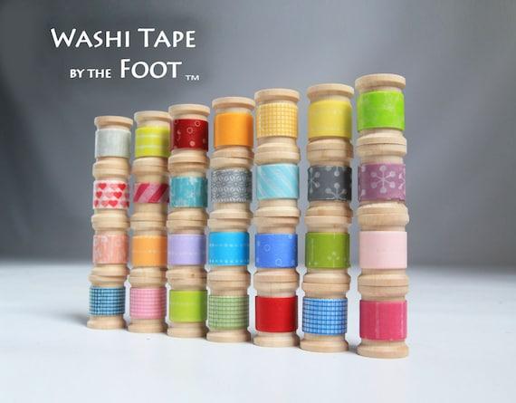 Japanese Washi Tape 30ft - get up to 15 Rolls on wooden spools - Grab Bag - Suprize Bag