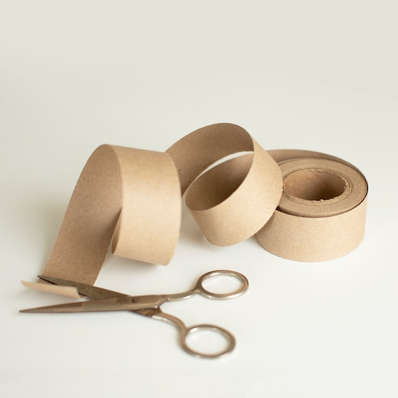 50 Yards-KRAFT Binding Paper - Wrapping Ribbon - Belly Band Paper - Soap Bands - Stationary Wrap - Cutlery Band - Wedding Napkin Ring