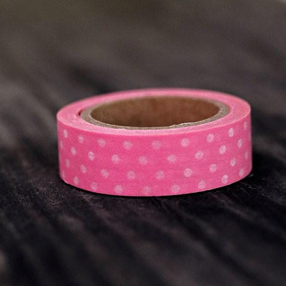 Pink Polka Dot  -  Single Roll 10 mm