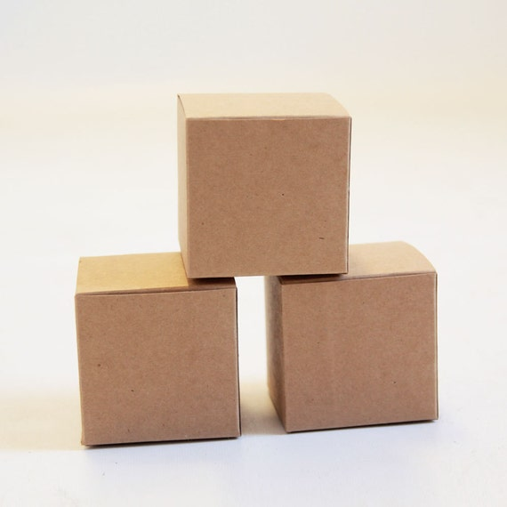 Brown Kraft Gift Boxes 3x3x3 inches - Set of 15