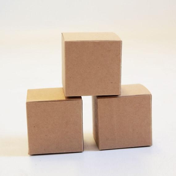Kraft Natural Gift Box 3x3x3  Lot of 25