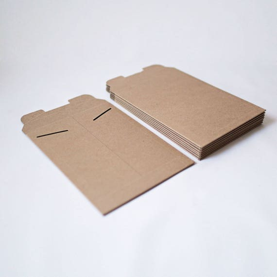6 in x 8 in  - Kraft Stay Flat Mailers- Set of 25 Rigid mailers for shipping, art and print presentation and wedding invitations