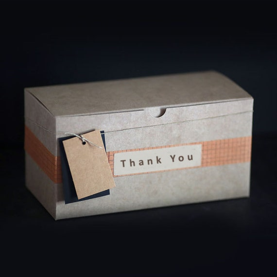1 Sample box- 11 3/4 X 6 X 6 inch Kraft Gift Box