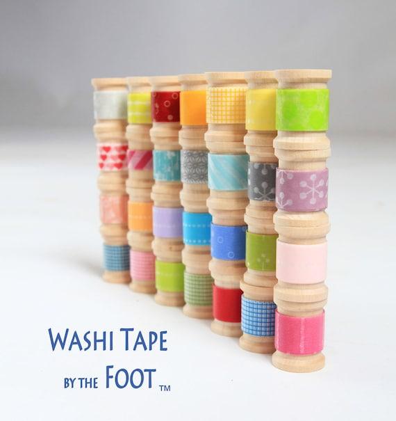 Japanese Washi Tape - 5 Rolls wooden spools -