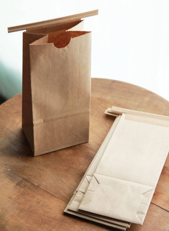 1/2 Pound Kraft Tin Tie Coffee Bags WITH WINDOW Set of 100 -  As Seen In Better Homes and Gardens Food Gift Magazine