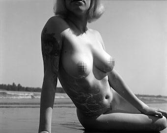 Fine Art Nude Print | Nude Wall Art | Model Print | Nude Photographic Print | Black and White Photo | Erotica Wall Art | Sensual Art