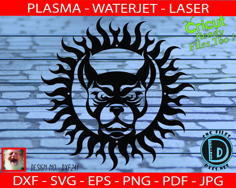 Mean Dog Sun Design Cnc Cutting Dxf Svg Eps Ai Pdf Jpg Etsy
