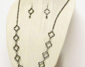 """35"""" Gunmetal Chain Necklace Set #20932 Gunmetal links and chains"""