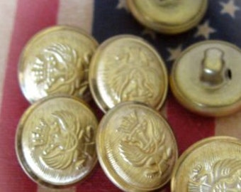 Vintage Brass Button Military Style