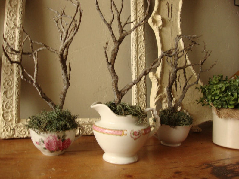 Tabletop Tree Table Decor Wedding Twig