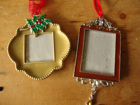 Vintage christmas ornaments photo frame ornaments christmas etsy