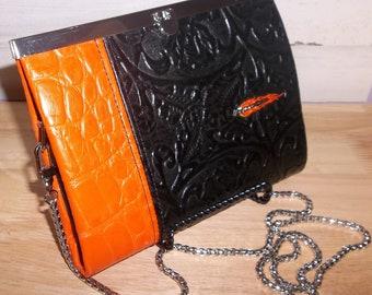 Embossed Leather Wallet/Crossbody/Purse/Biker/Motorcycle/Gratitude Wallet
