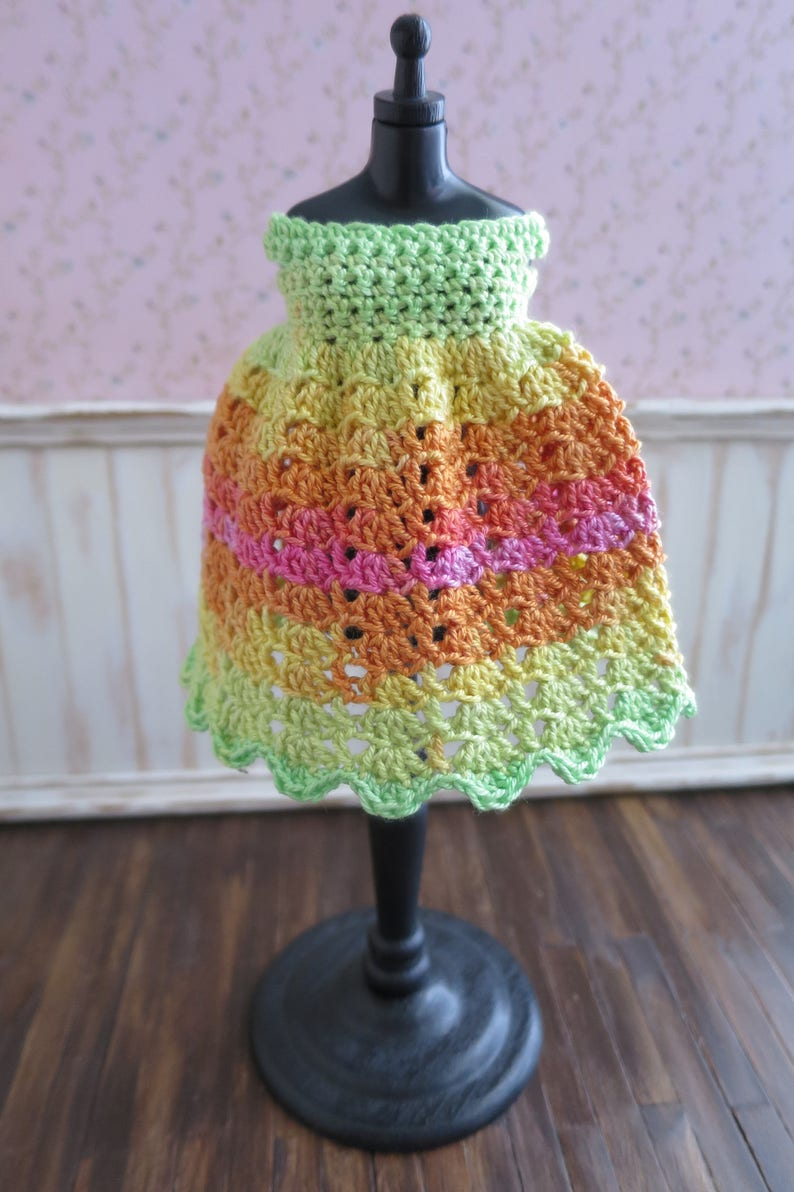 Blythe Rainbow Crochet Dress image 0