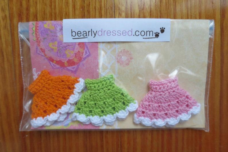 3 Pack Of Crochet Cupcake Petite Blythe Dresses image 0
