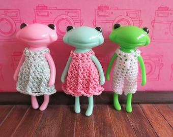 Mini Wonderfrog Friend Crochet Dress Set