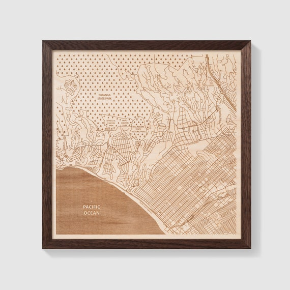 Pacific Palisades Map Art Customizable 12x12 Etsy