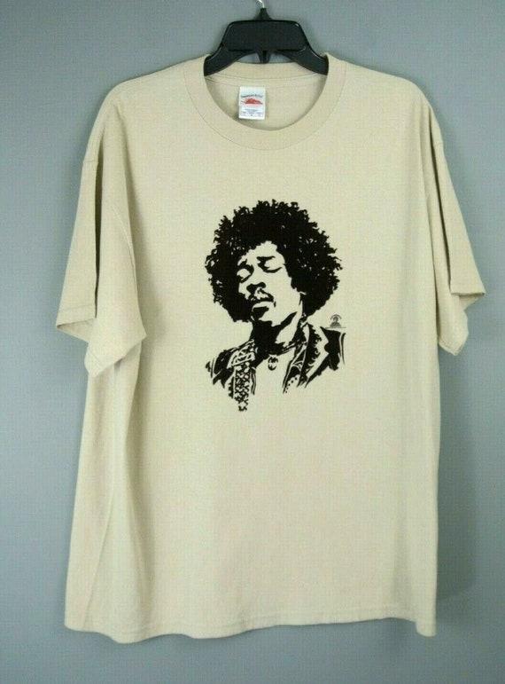 Vintage Authentic Jimi Hendrix T-Shirt L Beige/Bla
