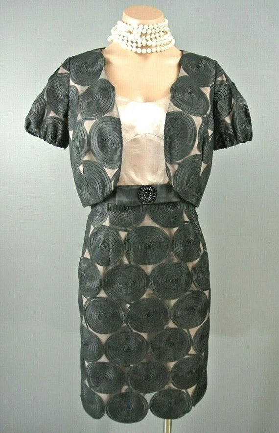 Mikael Aghal 2pc Dress set 4 Black/Pink Formal Coc