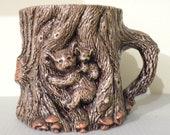 Koala Mug, Koala Bear Coffee Mug, Koala Lover Gift, Unique Koala Gifts, Animal Gifts, Woodsy Sculptural Mug