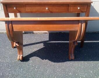 Wall Mounted Writers Table Desk, Large Blond Wood Wall Desk, Home Office Desk, Modern Desk, Artist Desk, Architectural Scroll. Pick Up NJ