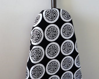 Ironing Board Cover - classic black with white citrus slices