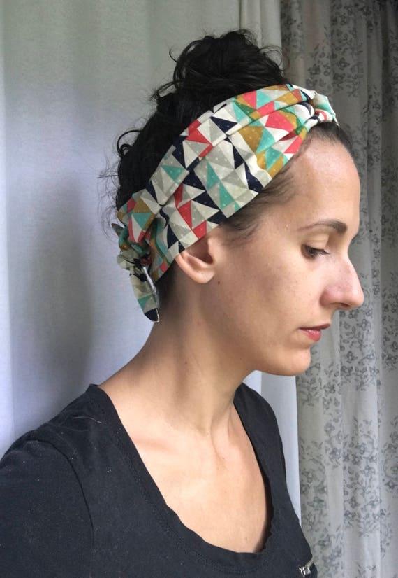 Womens headwrap boho headband hair scarf retro head  97f24ea3e995