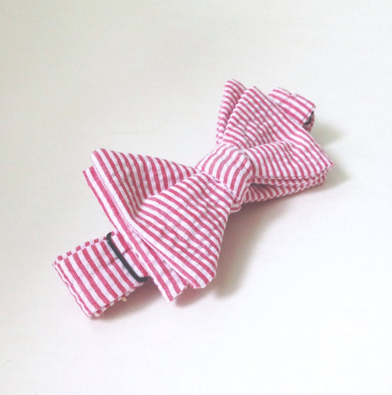 a751621446f5 Red Bow tie kids bow ties Striped Bow Tie Toddler Bow tie | Etsy