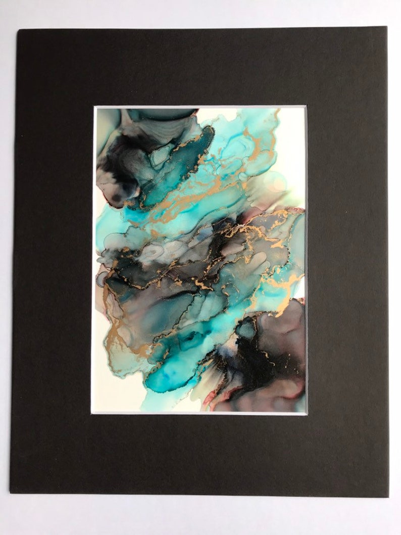 8x10 Abstract Art Original Alcohol Ink Alcohol Ink Painting 8x10 Alcohol Ink Art Abstract Alcohol Ink Color Alcohol Ink Art