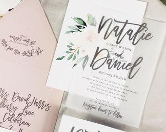 Vellum Wedding Invitations Etsy