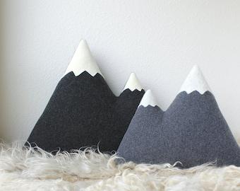 Mountain Range Pillow Set #1 - Large Peaks + Original Peaks - MADE TO ORDER
