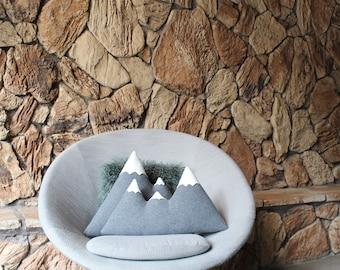 Mountain Range Pillow Set #2 - Large Peaks + Original Sisters - MADE TO ORDER