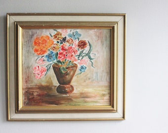 Vintage Painting of Floral Bouquet