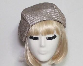 056936b616841 Gold Metallic Beret Hat