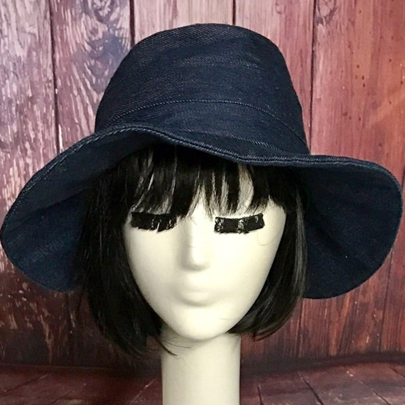799d3dfe Denim Sun Hat Bucket Hat Sun Hat floppy hat wide brim hat | Etsy