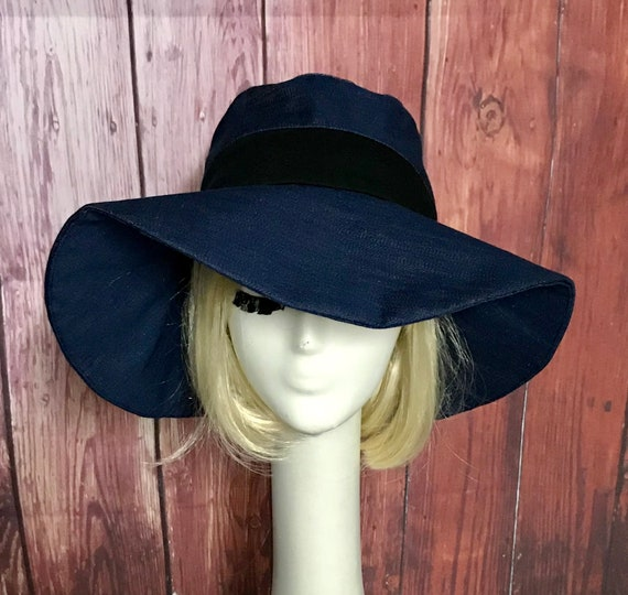 Sun Hat Denim Wide Brim hat boho hat Summer hat floppy  339544233ef