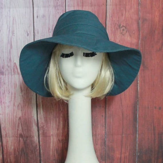 71b4bd40 Wide Brim Hat Sun Hat Denim Floppy Hat Hippie Hat Light | Etsy