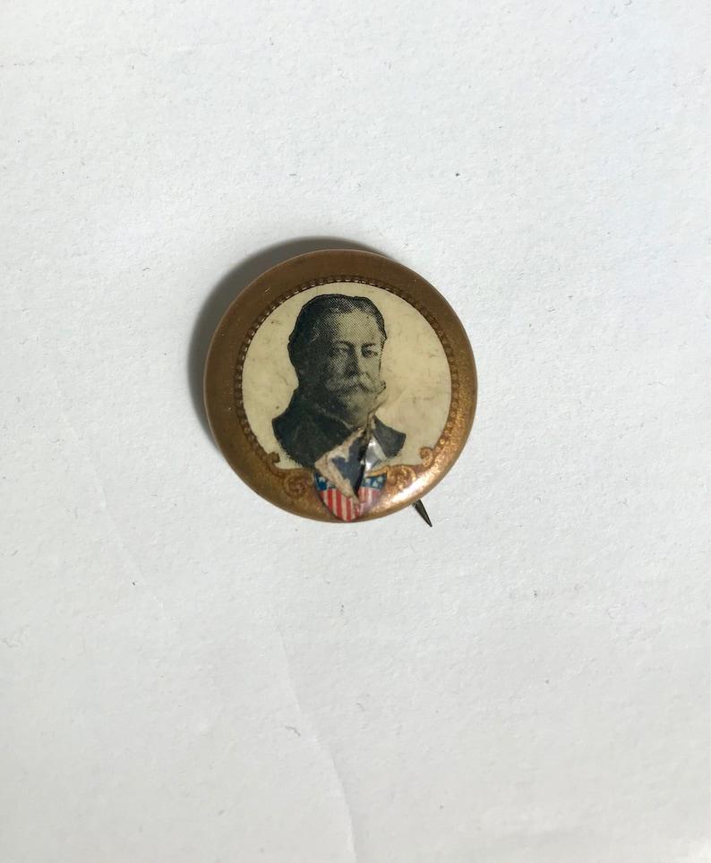 Vintage Antique RARE Historical Taft Pinback Button // late image 0