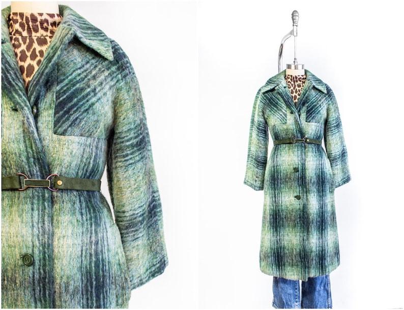 Pierre Cardin Mohair Coat 1960s Mod Size Small-Medium 6/8 image 0