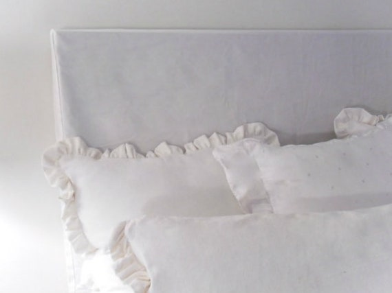 Medium Weight Linen Headboard Slipcovers With Clean Lines Etsy