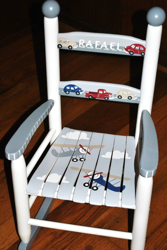 child/'s rocking chair baby gift hand painted kids rocking chair sports rocking chair