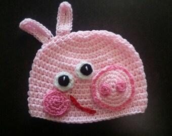 558be75e860 Peppa Pig Hat - Peppa Pig Beanie- Peppa Pig