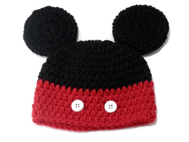 Mickey Mouse Hat Baby Mickey Hat Mouse Ears Mickey Mouse  b85062144f7