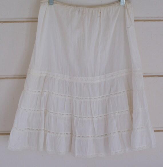 White Lace Petticoat, 1950s Petticoat, Steampunk P